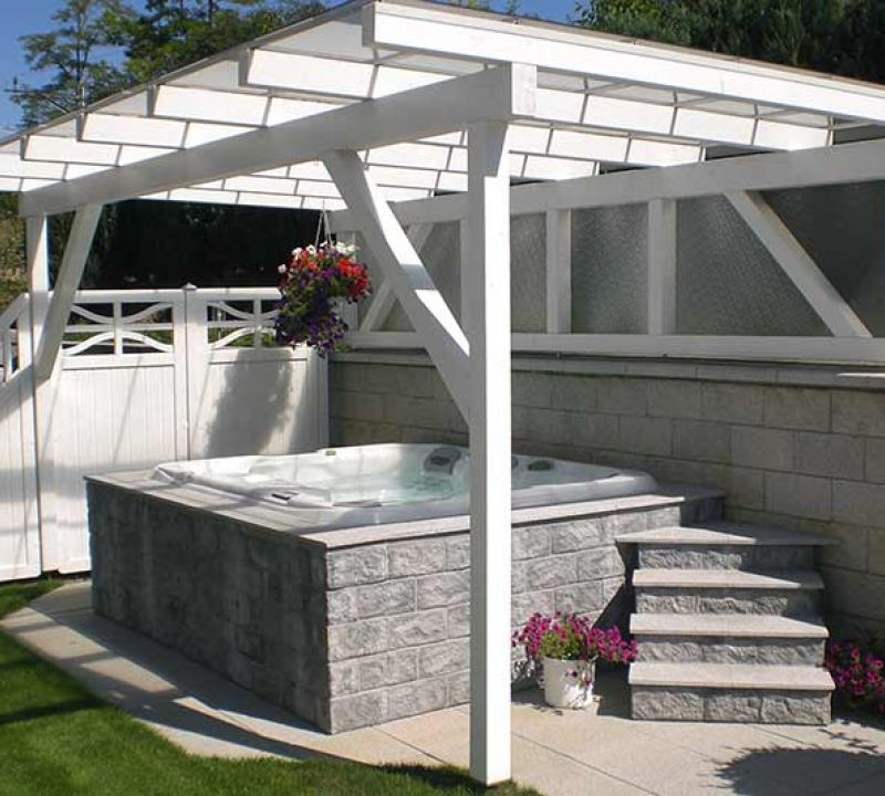 Installation Sundance Spa Backyard Deck Edmonton