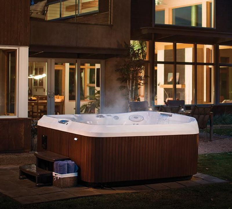 Installation Sundance Spa Backyard Edmonton