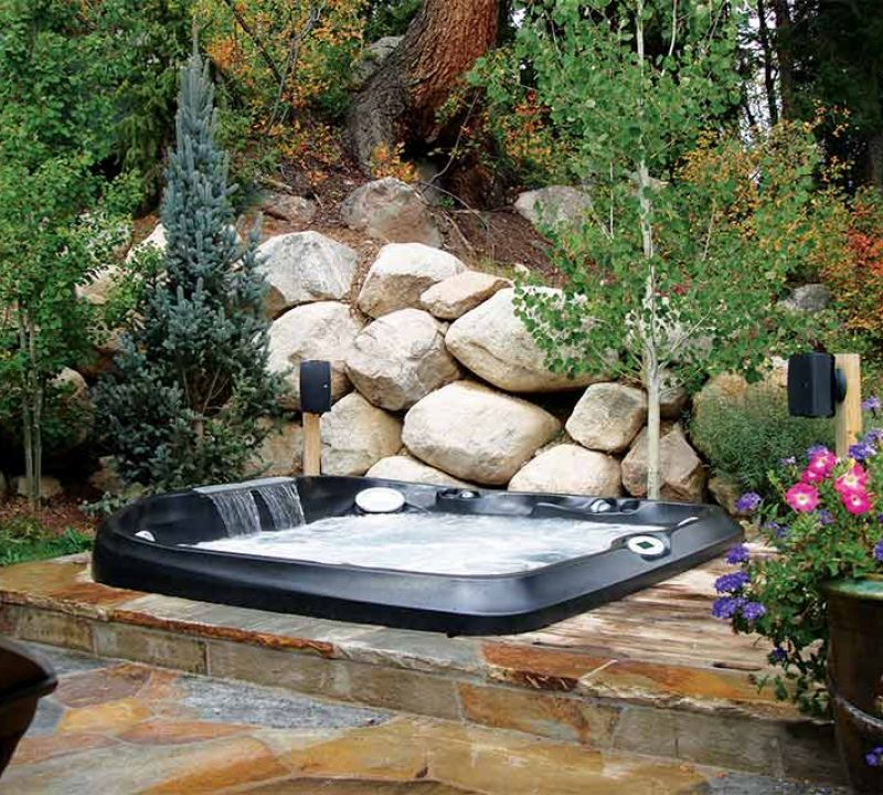 Sundance Spa Backyard Installation in Edmonton