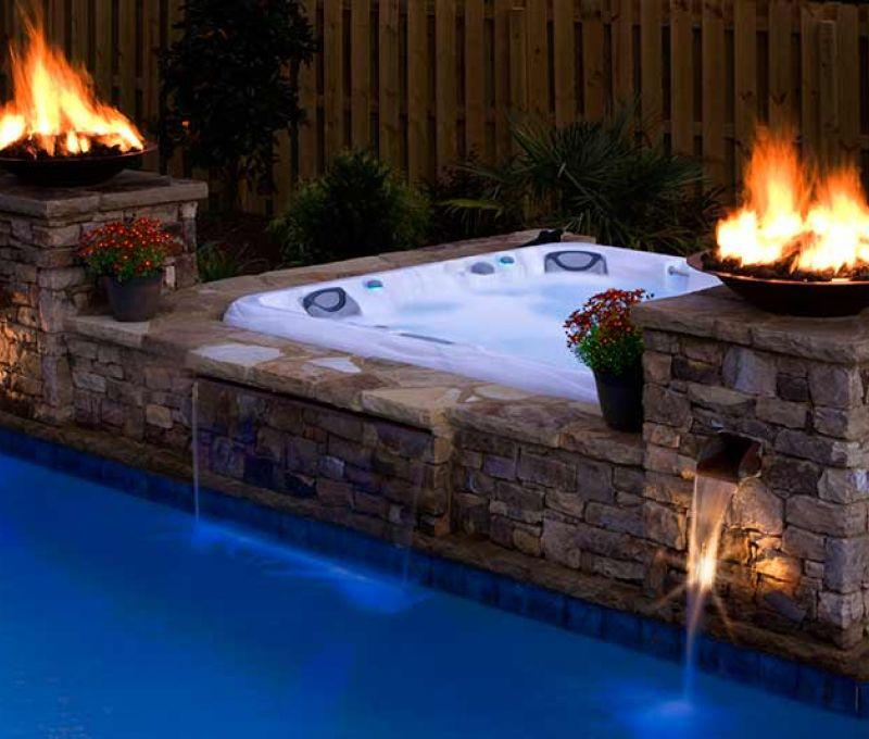 Installation Sundance Spa Night Pool Edmonton
